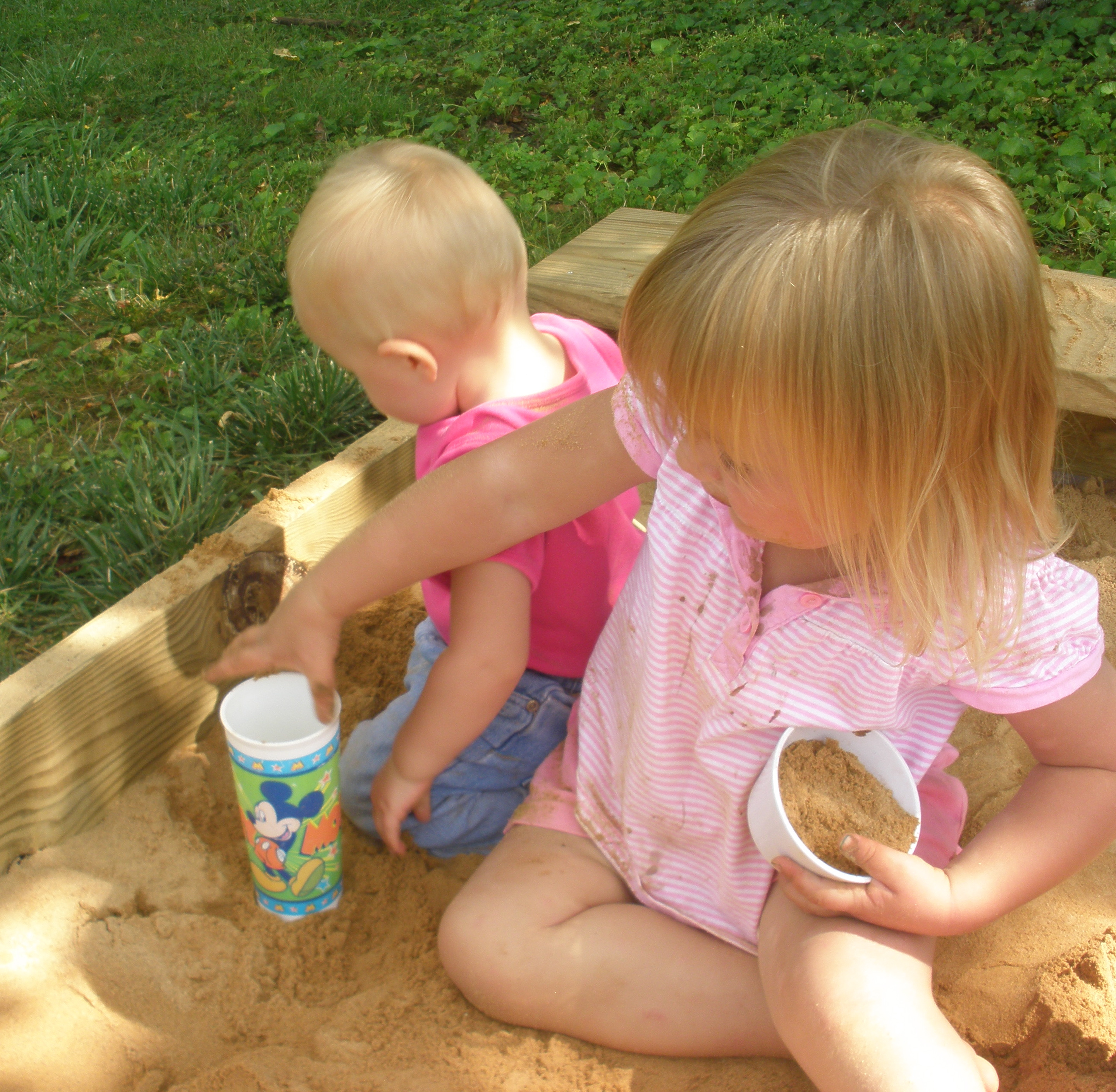 girls in a sandbox 