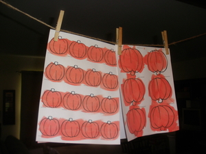 Hanging-pumpkins