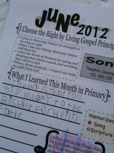 Primary Sharing Time Journal