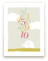 Elephant and Numbers from Minted