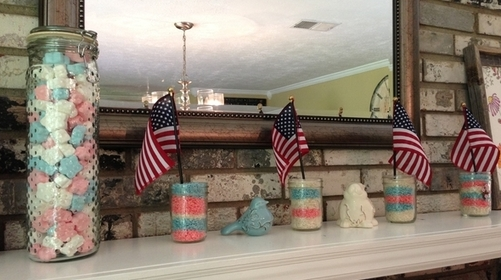 Patriotic Mantle Display
