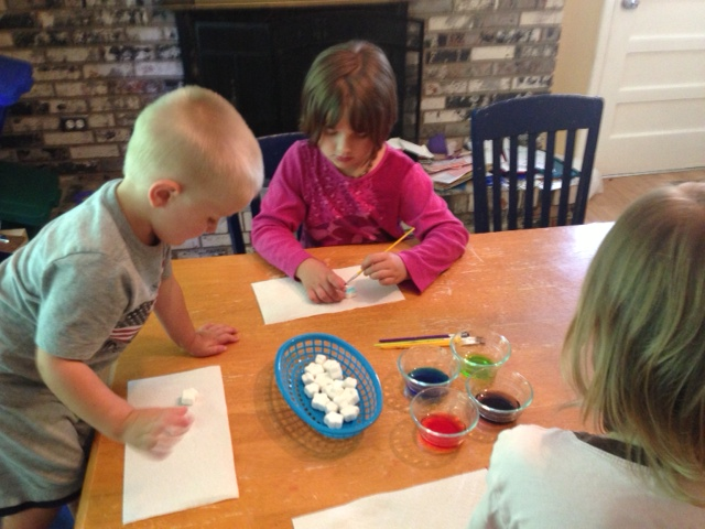 Painting Star Marshmallows