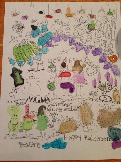 Elli-halloween-doodle-watercolor