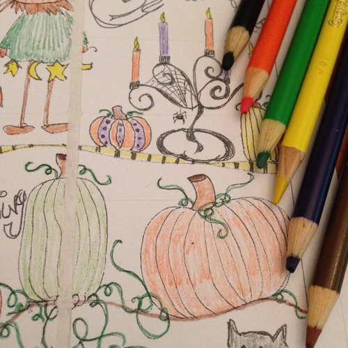 halloween-doodle-w-colored-pencils