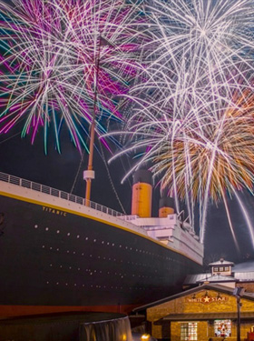 Thanksgiving Fireworks at Titanic Museum in Pigeon Forge