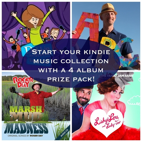 Start your Kindie Music Collection with a 4 album prize pack