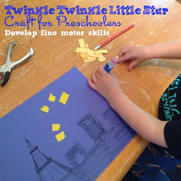 Make out this Twinkle Twinkle Little Star craft for preschoolers from BecauseBabiesGrowUp.com