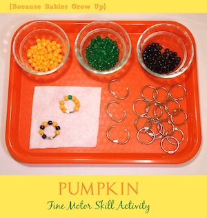 Pumpkin Fine Motor Skill Activity