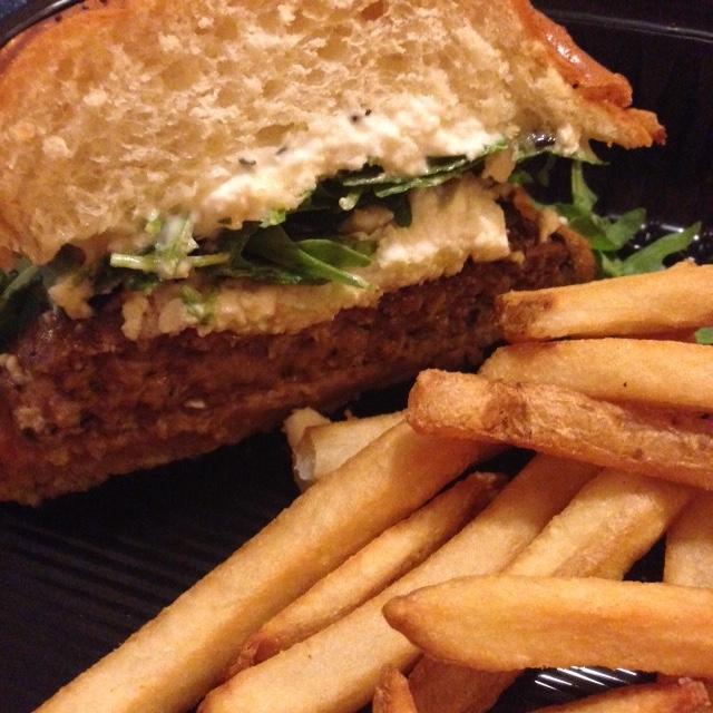 Lamb burger at Hershey Lodge