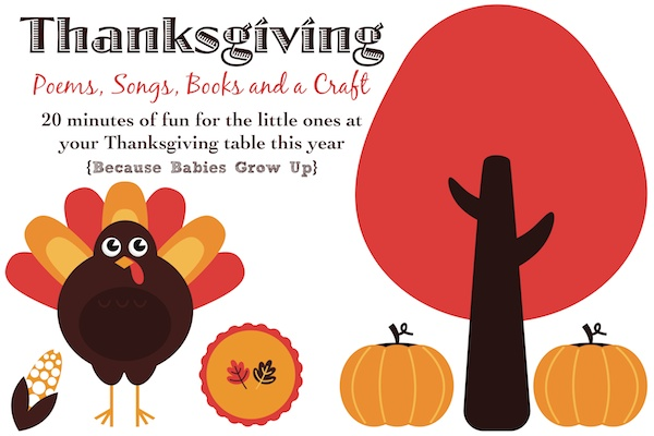 Thanksgiving Poems, Songs, Books and a Craft