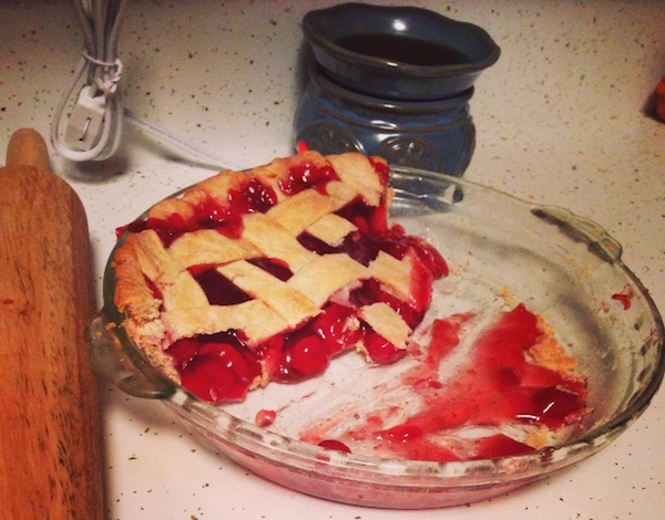 Sparkling Spruce and Cherry Pie