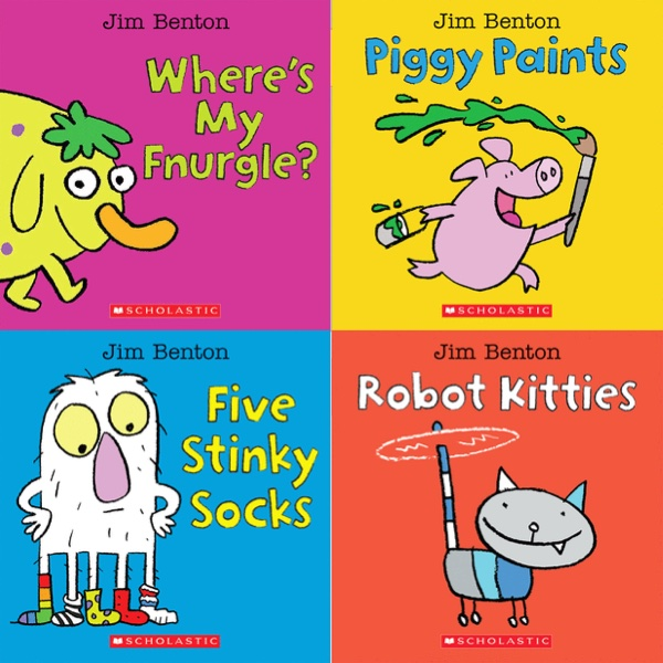 Four new board books from Jim Benton